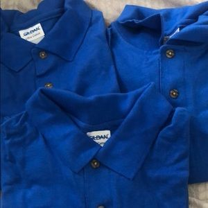 BUNDLE of 3 GILDAN Polo Shirts